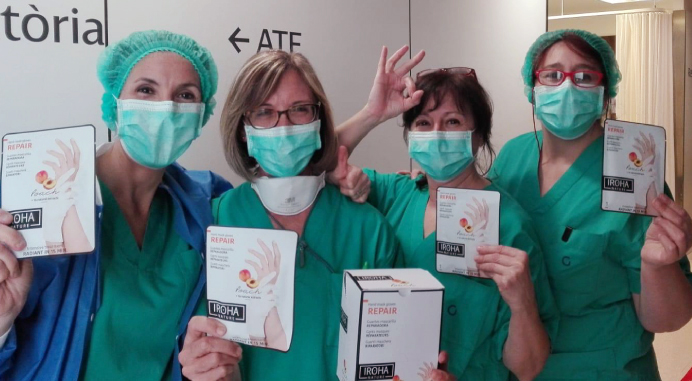 Iroha Nature donates 1500 hand mask gloves to health professionals