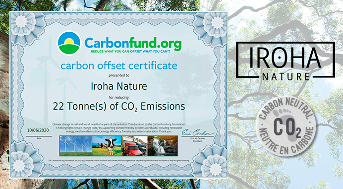 At Iroha Nature we are carbon neutral
