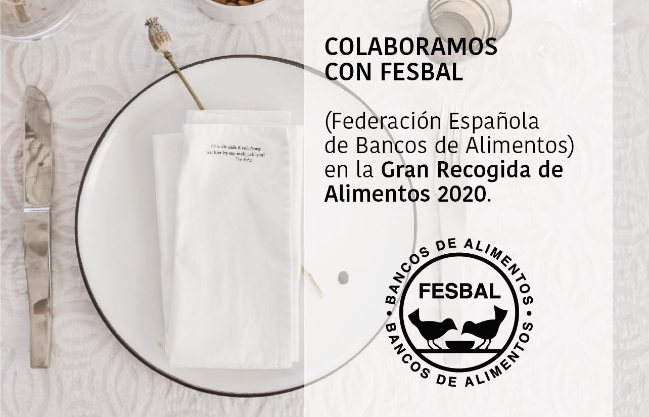 Colaboramos con FESBAL en la Gran Recogida de Alimentos 2020